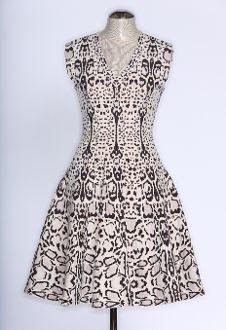 Marjorie Harvey Closet Luxury Consignment Alaia | Ivory & Brown Animal Print Dress