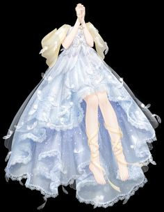 Cosplay Dress, Cosplay Outfits, Anime Outfits, Dress Design Sketches, Fashion Design Drawings, Pretty Outfits, Pretty Dresses, Anime Girl Dress, Fashion Illustration Dresses