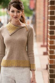 Petit Four Pullover by Heather Zoppetti for Interweave Knits Fall 2012