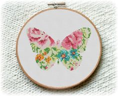 BOGO FREE Butterfly Cross Stitch Pattern Meadow by StitchLine