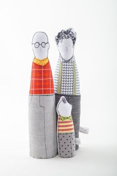 Gay family Proud family. Two men fathers dolls by TIMOHANDMADE