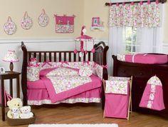 Pink Circles 9 Piece Crib Bedding Set by Sweet Jojo Designs
