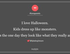 Funny Parenting Tweets: Halloween Edition