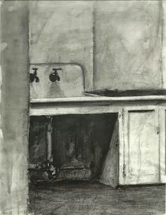 loverofbeauty: Richard Diebenkorn: Sink (1950s)