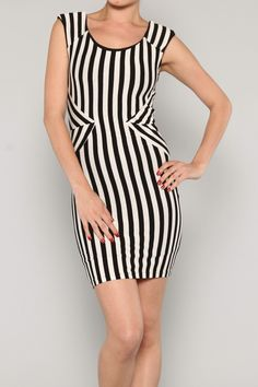 Stripe Fitted Dress #wholesale #fashion #shop #ootd