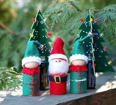 santa and helpers wooden pets ac moore Felt Christmas, Winter Christmas, Christmas Crafts, Christmas Decorations, Merry Christmas, Spool Crafts, Cork Crafts, Felt Crafts, Wood Peg Dolls