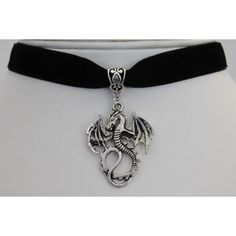 Black Velvet 13mm Dragon Choker Necklace Gothic ($9) ❤ liked on Polyvore featuring jewelry, necklaces, choker jewelry, goth necklace, gothic choker, velvet choker and goth jewelry