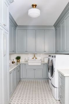 Interior design is comprised of many house decorating styles in imitation of distinct characteristics. This glossary identifies some of them, displays images, Blue Laundry Rooms, Laundry Room Cabinets, Basement Laundry, Laundry Room Storage, Laundry Room Design, Diy Cabinets, Laundry Room Floors, Laundry Decor, Laundry Closet
