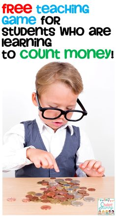 A fun FREE printable counting & matching game for your students who are learning to count coins!