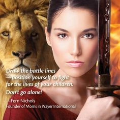 This picture of a woman of God, a mighty warrior backed up by the King of Kings, The Lion of the Tribe of Judah is so powerful to me. It emanates power. It sends chills up and down my spine