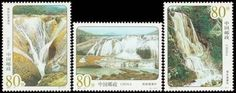 China Stamps - 2001-13 , Scott 3020-23 Huangguoshu Waterfalls, MNH, F-VF by Great Wall Bookstore, Las Vegas. $1.28. Huangguoshu Waterfall is the centre of the Huangguoshu scenic area. Located on the Baishui River, it is the largest of its kind in China and one of the most magnificent waterfalls in the world. It is 81 metres wide, with a drop of 74 metres. Like the Milky Way descending from heaven, the Huangguoshu Waterfall rushes into the Xiniu pond. Its roaring sound ...