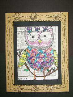2nd Grade Owls by vk.pacer, via Flickr on newspaper