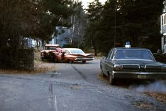 The end of the chase. The 1959 Chevy never had a chance and this time I didn't put the police car on it's roof.