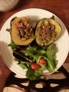 Stuffed Acorn Squash with Grass-Fed Beef and Mushroom Stuffing
