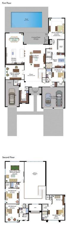 7 Modern House Plans Samples – Modern Home Family House Plans, New House Plans, Dream House Plans, Modern House Plans, Modern House Design, House Floor Plans, Dream Home Design, Home Design Plans, House Blueprints