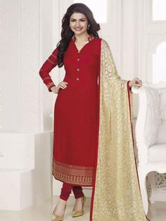 Red Colored Embroidary Georgette Salwar Suits - Buy Red Georgette Embroidered Dress Suite For only Rs.2,630 from Godomart Online Shopping Store India. Shop Online for Best Dress/Suits Collection Only at Godomart.com