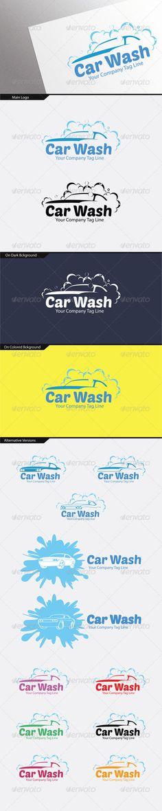 Car Wash Logo (14 Variations)