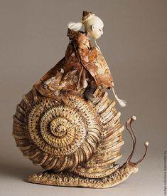 Коллекционные куклы ручной работы. Ярмарка Мастеров - ручная работа. Купить Исса. Handmade. Бежевый, кобаяси, паталь