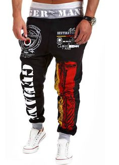 ed6aa36b8e81e5 Free Shipping Jogger Pants Outdoors Joggers Men 2015 New Fashion Letter  Print Harem Pants Sweat Pants