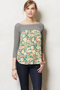 Roselle Pullover #anthropologie. Luv this. Wish it wasn't so pricey though!