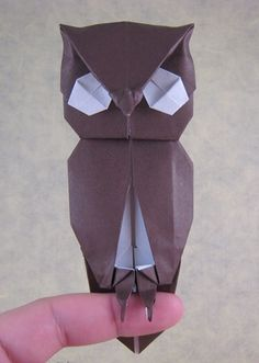 Origami Giant eagle owl by Quentin Trollip folded by Gilad Aharoni