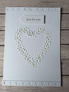 Exquisite daisy card with 3D daisy heart personalised cards birthday card thankyou card bridesmaid card