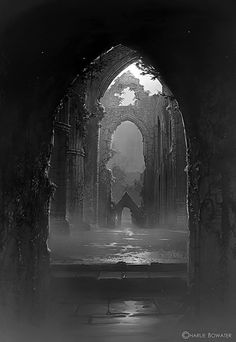 Tintern Abbey by Charlie Bowater.