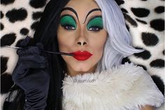 Cruella Deville  Disney makeup by  @jeamileth                                                                                                                                                                                 More