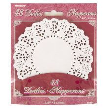 """4.5"""" White Paper Doilies, 48ct"""