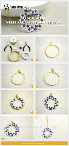 Jewelry Making Tutorial / This simple project is about how to make necklace patterns with beads. You just need some brass wire and beads, a unique necklace will be created by you. by AnnaJoy