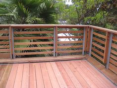 horizontal slats look nice... if only we had tropical trees around us