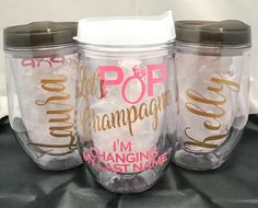 Excited to share the latest addition to my #etsy shop: Plastic Wine Cup, Stemless Wine Glass, Acrylic Tumbler lid straw, Personalized, bachelorette party, wedding decor, favor, girl's getaway http://etsy.me/2EnLGv4 #weddings #decoration #christmas #bacheloretteparty #p