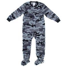 Boys Halloween Camo Ghost Fleece Footless Pajama Sleeper