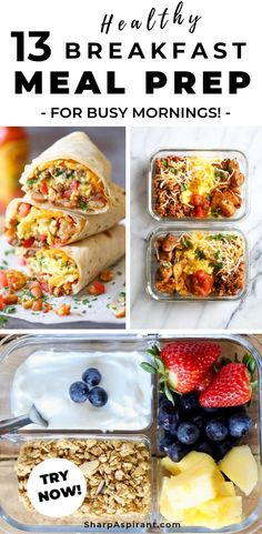 Meal Prep Ideas for Breakfast: 13 Quick & Healthy Meals. This list is awesome! It helps me to simplify my meal planning in a week. Will pin this for later! meal prep, meal prep for the week, meal plan, meal prep recipes. via www.sharpaspirant… Source by Healthy Snacks To Buy, Quick Healthy Meals, Healthy Breakfast Recipes, Healthy Breakfasts, Breakfast Options, Dinner Healthy, Healthy Breakfast Cereal, Breakfast At Work Ideas, Meal Prep For Breakfast