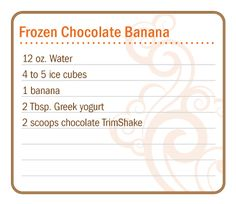 dōTERRA Slim & Sassy TrimShake is a convenient and delicious weight management shake mix providing essential nutrients and only an average of 68 calories per serving. Blended with nonfat. Cooking With Essential Oils, Essential Oils Guide, Juice Smoothie, Smoothie Drinks, Smoothies, Frozen Chocolate Bananas, Doterra Slim And Sassy, Doterra Recipes, Essential Oils
