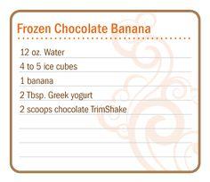 Frozen Chocolate Banana Slim & Sassy Trim Shake. slimandsassy.co.uk