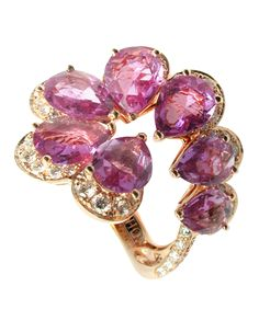 Purple~Mauve Sapphires & Diamonds by Mathon Paris