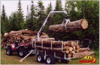 Small Log Loaders for Logs | Log loader trailer