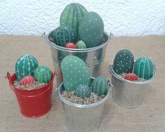 Cactus Painting, Pebble Painting, Pebble Art, Stone Painting, Rock Painting, Painted Rock Cactus, Painted Rocks Craft, Painted Stones, Stone Cactus