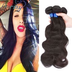 Cheap Human Hair Extensions, Buy Directly from China Suppliers:	Peruvian Virgin Hair Body Wave 3PCS Natural Black Human Virgin 	Hair Dorisy Hair Products None Chemical Processing Hot