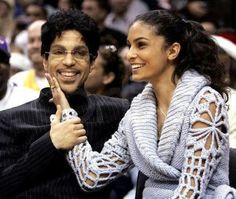 Prince with his 2nd wife... she reminds me so much of Vanity/Denise Matthews.