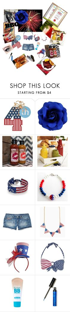 """""""4th of july full on"""" by tobash21 ❤ liked on Polyvore featuring Red Camel, Aéropostale, Converse, Pier 1 Imports, Kiwi, Maybelline, NYX and Beekman 1802"""