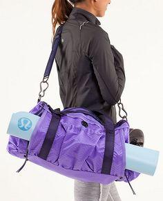 Keep On Running Duffel - squiggle emboss power purple