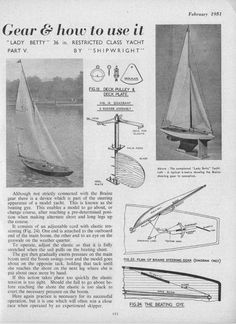 Model Sailboats, Model Boat Plans, Boat Building, Yachts, Sailing Ships, Pond, Gears, February, How To Plan