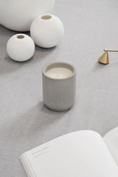 WXY Studio 1 Candle. studio 1 is the first in an edition of custom made vessels designed by the wxy studio. containing hand-poured plant based wax, studio 1 comes in four new fragrances. | www.wxycandles.com Wax Studio, New Fragrances, Printed Materials, Scented Candles, Flat Lay, Plant Based, Minimalism, Composition, 3d Printing