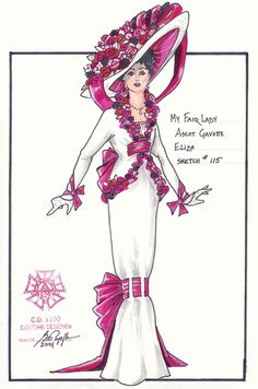 My Fair Lady (Eliza Doolittle at Ascot). Paper Mill Playhouse. Costume design by Gregory A Poplyk.
