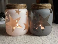 20 déco d'Hiver avec des pots en verre recyclés! Inspirez-vous