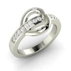 Rings - Petra - SI Diamond Ring in 14k White Gold (0.13 ct.tw.)