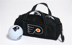 Philadelphia Flyers Mini Hockey Bag with Golf Balls by Hockey Stick Putter.  Buy it @ ReadyGolf.com