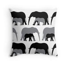 Together - Throw Pillow Cover - Black & Grey - http://annumar.com/en/designs/together-throw-pillow-cover-black-grey